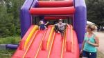 Fun on the bouncy castle 2015