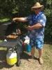 2017_Eugene cooking glazed pineapple-YUM