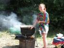 Jackie cooking tacos 2014