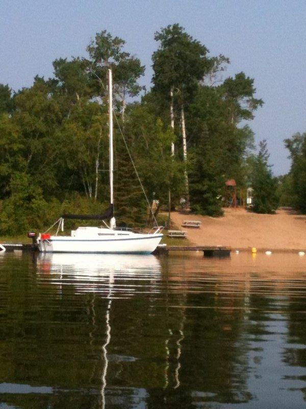 A new sailboat at our marina